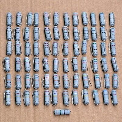 Electronics-salon 5 Watts Metal Oxide Film Resistors Assortment Kit
