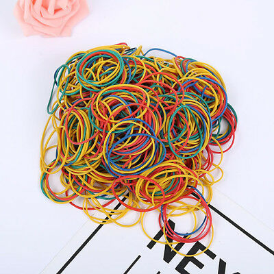 100pcs Useful Rubber Band Office Supplies Ponytail Holder Band Elastic Ties