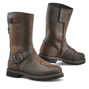 Leather Motorcycle Boots TCX Fuel Waterproof