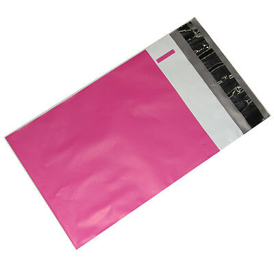 100 14.5x19 Hot Lipstick Pink Poly Bag Mailers Shipping Envelopes Boutique Bags