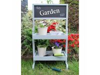 wooden garden planters with chalkboard detail in sage or grey