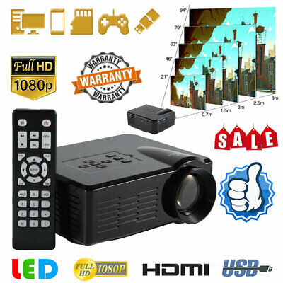Portable Mini Projector HD Home Theater Video Movie DVD Game 3D LED HDMI USB USA