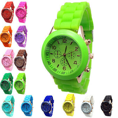 Hot Cheap Silicone Band Quartz Jelly Wrist Watches For Women/Ladies/Girls