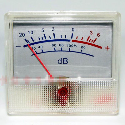 White Panel Vu Meter 0-500ua 650 Ohm -206db Db Power Amplifier Audio Backlight