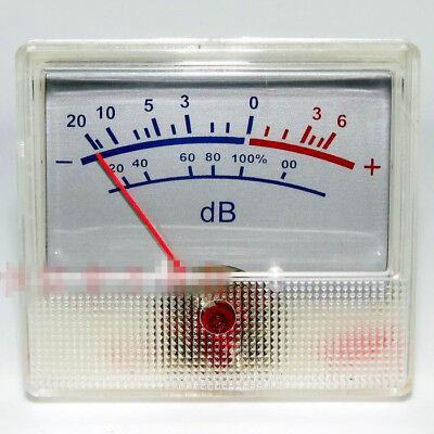 White Panel Vu Meter 0-500ua 650 Ohm -206db Db Power Amplifier Audio Backlight