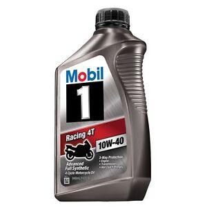 Mobil 1 qt sae 10w 40 mx4t motorcycle oil 103436 ebay for Valvoline motor oil certification