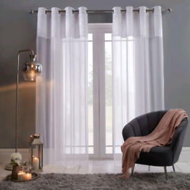 Crushed Velvet Voile Curtains