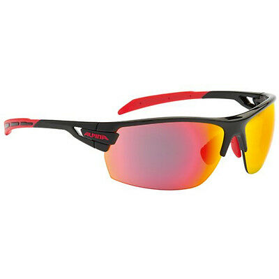 Alpina Wechselscheiben Fahrradbrille Sportbrille Tri-Scray black-red