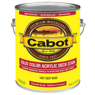 Cabot 1807 DEEP BASE Solid Color Acrylic Stain 1 gal can  deck fence furniture Deep Base Stain