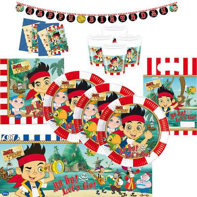 Mega Auswahl Jake und die Nimmerlandpiraten-Set Kindergeburtstag Zubehör    (Pirate Jake)