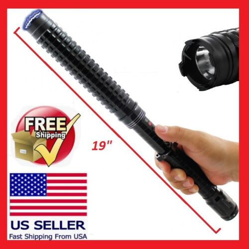 TACTICAL STUN GUN WITH FLASHLIGHT 30 MILLION VOLTS 19 INCHES LONG POWERFUL!!!