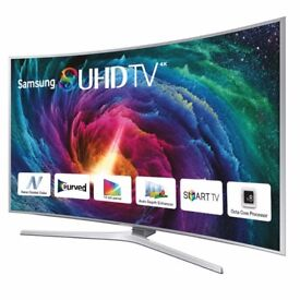New Samsung 55INCH JS9000 Super 4K SUHD 3D Ultra Slim Curved Smart TV complete with remotes