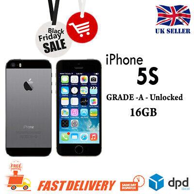 Apple iPhone 5S 16 GB - (Unlocked) Smartphone Mobile Phone Grade ABC UK Stock