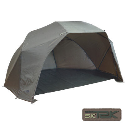 SONIK SK-TEK 60' GREEN BROLLY SYSTEM BIVVIE WITH BIVVIE PEGS CARP FISHING TACKLE