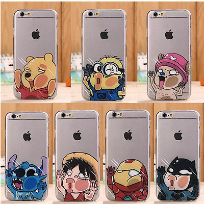 Cute Cartoon Pattern Crystal Soft TPU Phone Case Cover for Apple Mobile Phone