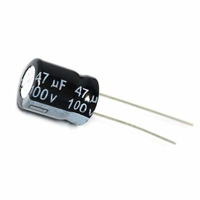 Mfd 100v Radial - 20PCS 100V 47uF 100Volt 47MFD Electrolytic Capacitor 10×13 Radial
