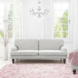 New Amelia Light Grey 3 Seater Sofa Bed