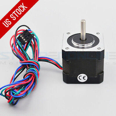 Nema 17 Step Motor 64oz.in 2.0a 1m Cable Connector Diy Cnc Robot 3d Printer