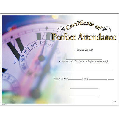 Award Certificate of Perfect Attendance, Pack of 15](Certificate Of Award)