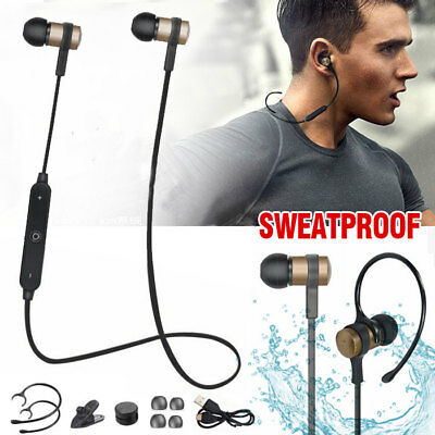 Wireless Bluetooth Earbuds W  Mic Bass Stereo Sports In Ear Earphone Headphone