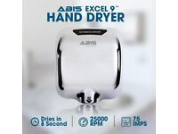 ABIS Excel-9 Hand Dryer - Chrome, for Schools, Clubs, Bars, Offices