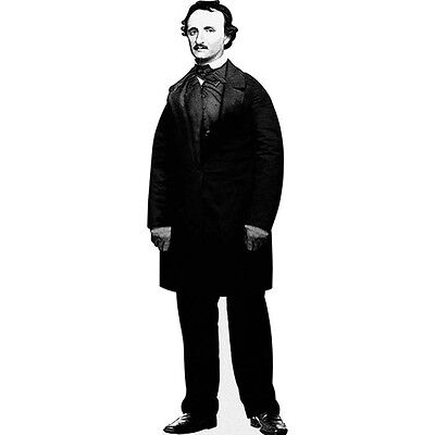H79002V2 Edgar Alan Poe Cardboard Cutout Standup - Alan Party Supplies