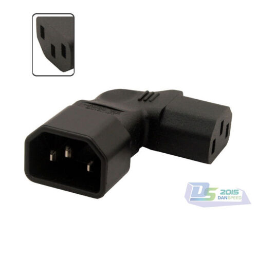 2.5KW Up Angled IEC 320 C14 To C13 Power Plug Adapter Socket TV LCD Wall-Mounted