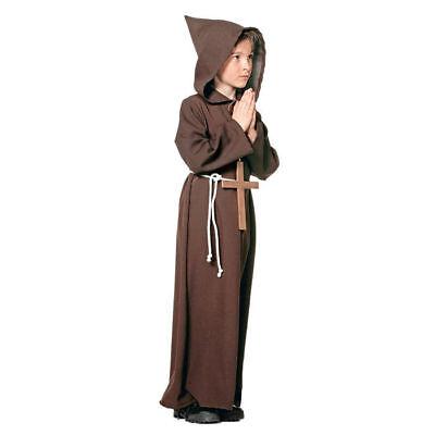 Mönchskostüm Kinder, Einheitsgröße bis Gr. 140    - Kinder Mönch Kostüm