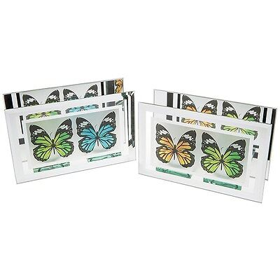 butterfly Mirror Heart twin Double T tea light candle Holder leonardo collection