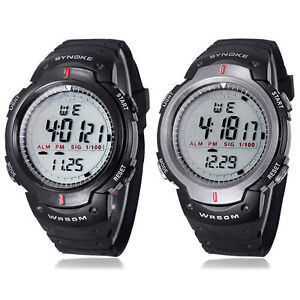 Waterproof Outdoor Sports Men Digital LED Quartz Alarm Wrist Watch Cheap | eBay