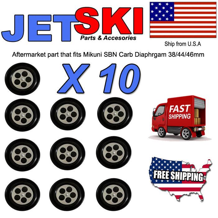 Shop Pack of 10 Aftermarket Mikuni Round Carburetor Carb Diaphragm SBN 38 44 46