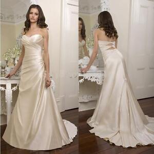 Romantic Essence of Australia Wedding Gown - White Satin