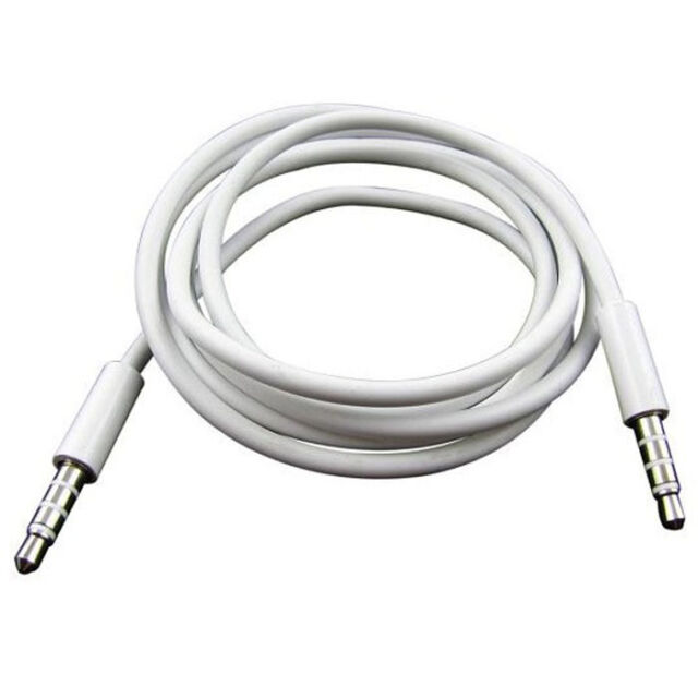 4 Pole 1m 3.5mm Male Record Car Aux Audio Cord New Headphone Connect Cable