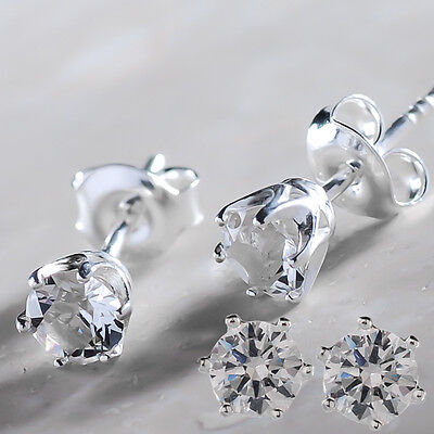 925 Sterling Silver Stud 5 mm Earrings Xirius Clear Crystals from Swarovski®