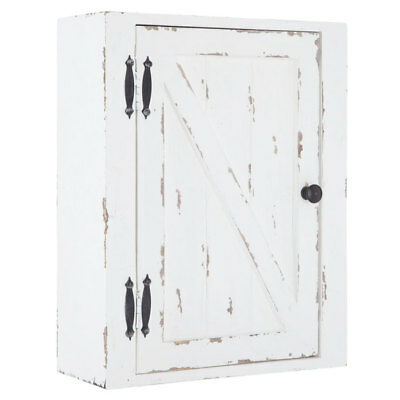 Country Rustic Wood Wall Cabinet Distressed Shabby Chic Bathroom Kitchen Storage