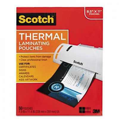3m Scotch Thermal Laminator Laminating Pouches Letter Size - 200 Ct.