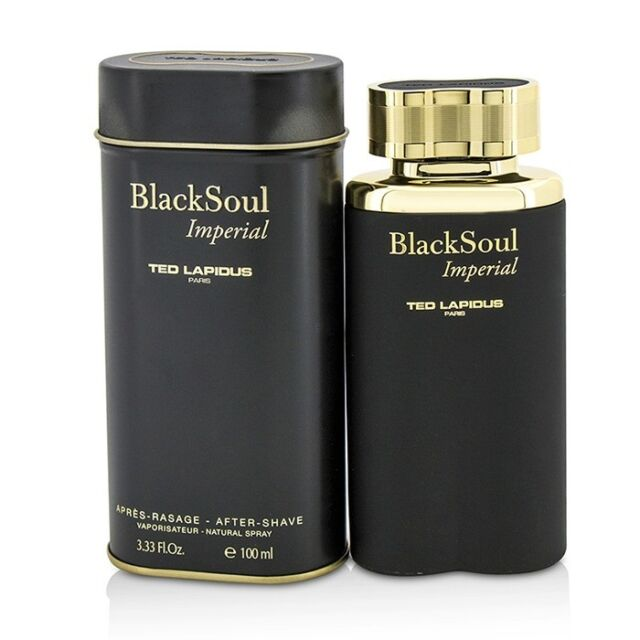 NEW Ted Lapidus Black Soul Imperial After Shave Spray 100ml Perfume