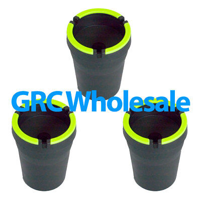 3 Glow In The Dark Car Ashtray Wholesale Lot Cup Holder New **LOT OF 3** - Glow In The Dark Cups Wholesale