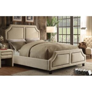 Almost New White bed frame ( King Size )