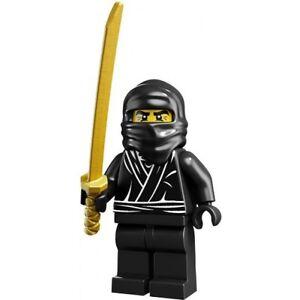 *NEW* Lego Black Series 1 Ninja Man Rare Mini Figure w Gold Sword Baseplate x 1