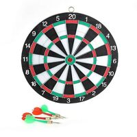 Set Double Sides Dart Board Game Toy + 4 Free Darts