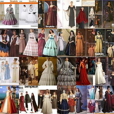 Renaissance Costume Historical OOP Simplicity Sewing Pattern Ladies Misses - Historical Women Costume