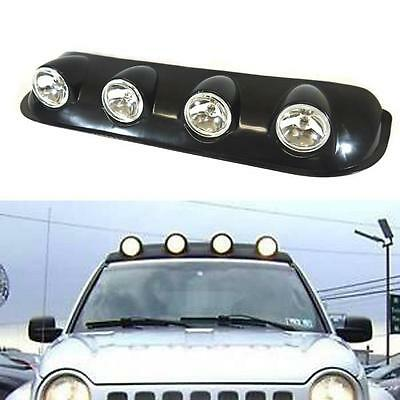 Off Road Roof Top Clear Fog Lights Bar Wiring+Switch Pickup Truck SUV 4X4 Jeep