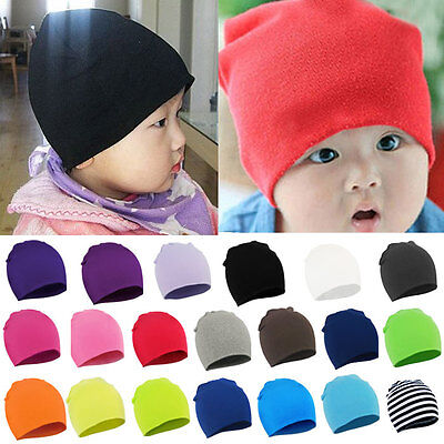 Unisex Baby Boy Girl Toddler Beanie Hat Infant Stretch Cotton Warm Cute Cap Hot