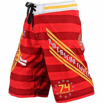 American Fighter Mens Board Shorts Swim Trunks Sealed Fate Fight Gym Mma Ufc  54