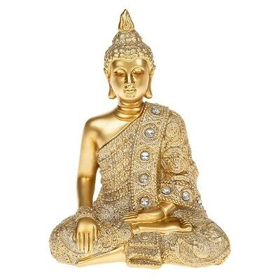Buddha Meditieren (Meditieren Thai Buddha Gold Statue Figur Skulptur Ornament Dekoration Geschenk)