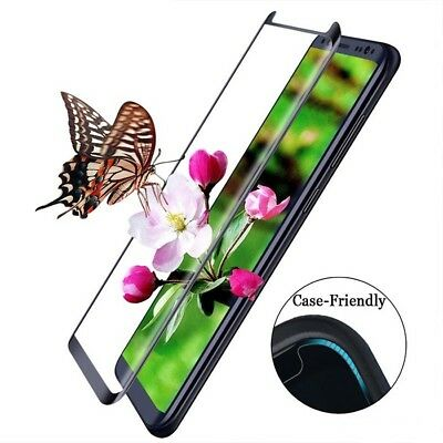 3D Curved Case Friendly Samsung Galaxy S8 S8  Tempered Glass Screen Protector