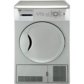 Beko DCU7230S 7Kg Sensor Condenser Dryer in Silver - Delivery Available
