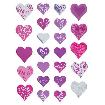Valentine Day Crafts (Heart Swirl Epoxy Stickers Valentine's Day Planner Papercraft Party DIY Crafts)