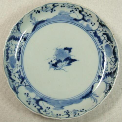 Japanese OLD KO IMARI Plate ~ SOMETSUKE ~ 1700